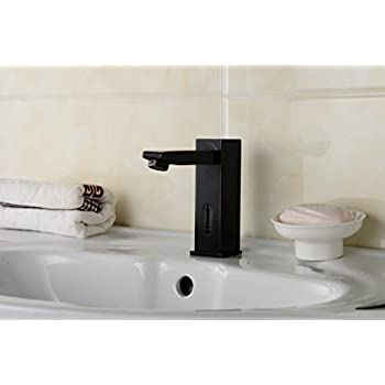 Aquafaucet Automatic Sensor Touchless Bathroom Lavatory Vanity Sink Vessel Faucet Oil Rubbed Bronze