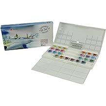 White Night Artists Watercolour Landscape set 24 whole pans, plastic box