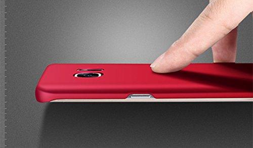 Funda Galaxy S6 ,Vanki® Ultra Slim Anti-Rasguño y Resistente Huellas Dactilares Todo incluido Caso de Plástico Duro Cover Case para Samsung Galaxy S6 Oro rosa