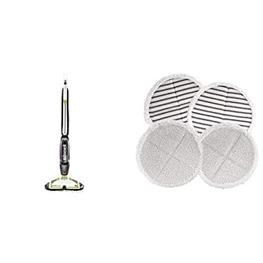 BISSELL Spinwave Powered Hardwood Floor Mop and Cleaner, 2039A AND Bissell 2124 Spinwave Mop Pad Kit Replacement Pads