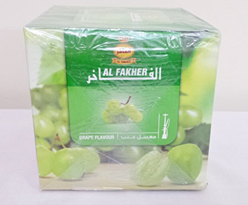 1 Kg. Al Fakher Shisha Molasses - Non Tobacco Grape Flavour Hookah Water Pipe