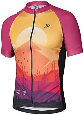 Spiuk Maillot M/C MTB Hombre Naranja/Granate T. L, Talla L: Amazon.es: Deportes y aire libre