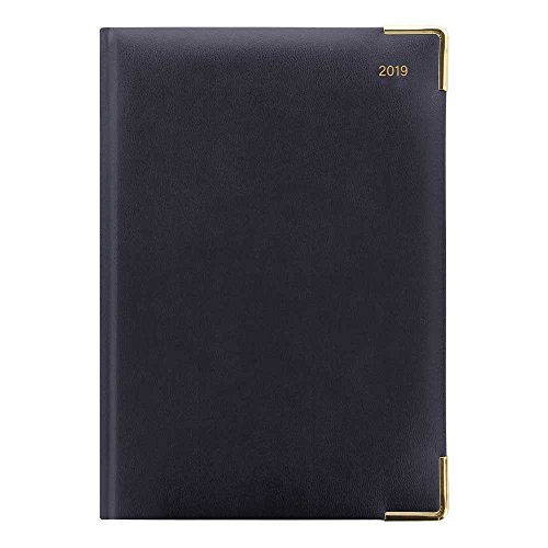 (Letts 2019 Classic - Daily with Gold Corners, Blue, 8.25 x 5.87 inches  (C12XBE-19) )