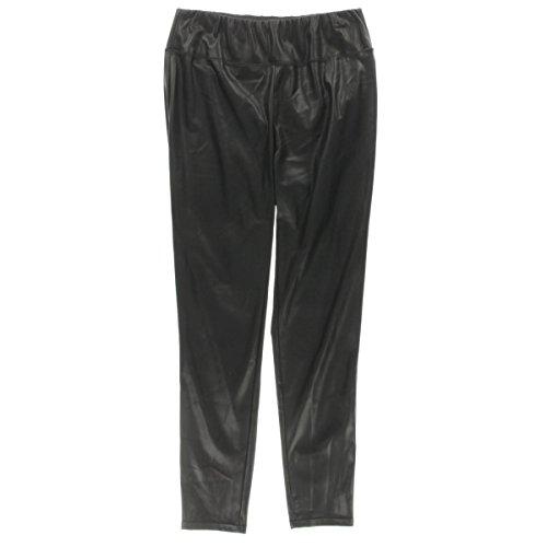Lauren Ralph Lauren Womens Plus Alatea Faux Leather Pull On Leggings Black 16W