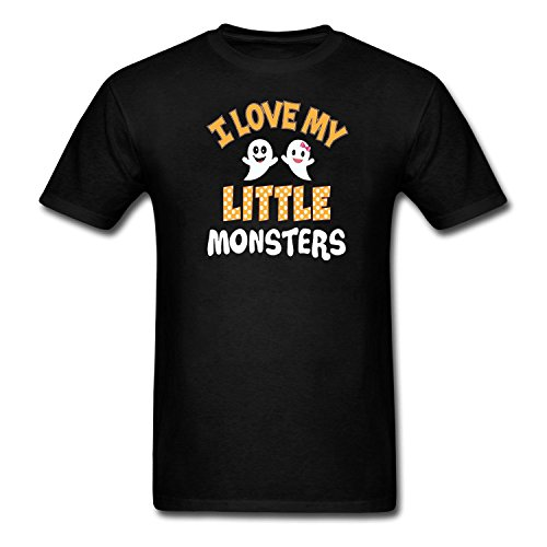 AIKYAN Men's I Love My Little Monsters T-Shirt