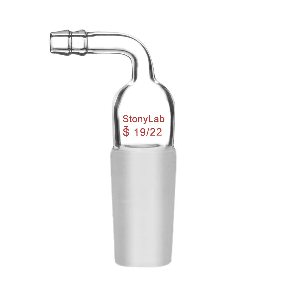 StonyLab 3 Way Claisen Distillation Adapter with 19//22 Joints Connecting Adapter Lab Supply SL-L2L5R1