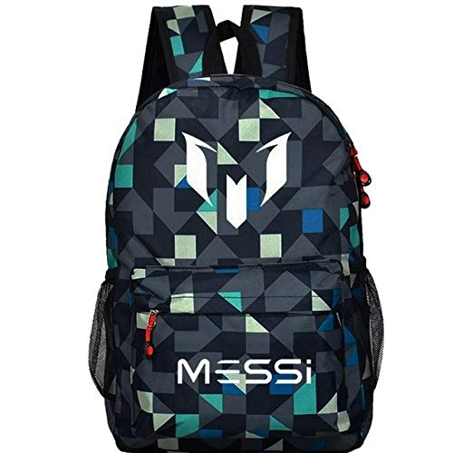 Lattice 1 QWKZH Backpacks Teenagers school bags for boys Messi Teen bookbag Backpack men back pack Male bag Kids Gift Bagpack book bag boys black rucksack