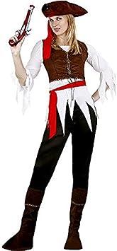 Juguetes Fantasia - Disfraz mujer pirata caribeña adulto: Amazon.es ...