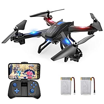 SNAPTAIN S5C WiFi FPV Drone with 720P HD Camera, Voice Control, Wide-Angle Live Video RC Quadcopter with Altitude Hold, Gravity Sensor Function, RTF One Key Take Off/Landing, Compatible w/VR Headset by SNAPTAIN