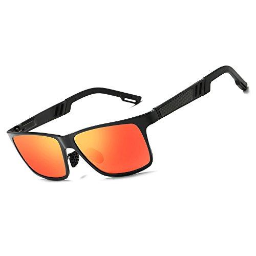 KITHDIA Men Women Aluminum Polarized Mens Sunglasses Mirror Sun - Sun How To Glasses Clean