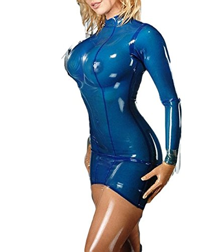 latex-bodycon-rubber-fetish-vestidos-dress-custom-made-blue