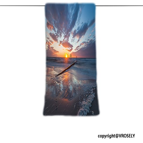 VROSELV Custom Towel Soft and Comfortable Beach Towel-romantic west to the baltic sea Design Hand Towel Bath Towels For Home Outdoor Travel Use - Palm Beach West Wellington