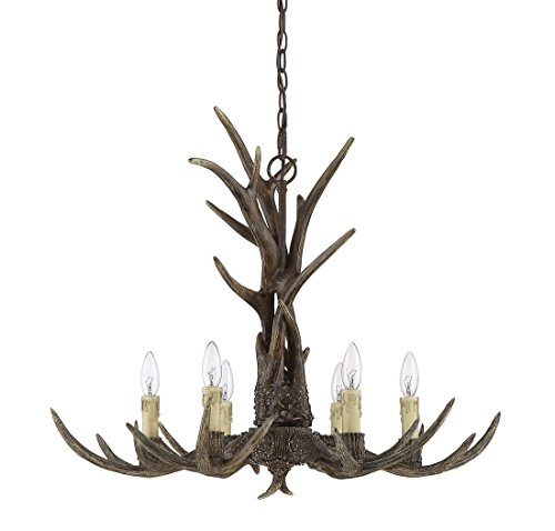 Savoy House 1-40017-6-56, Blue Ridge 6-Light Chandelier, New Tortoise Shell - New Tortoise Shell Finish - Country/Rustic Style 6-Light with C-type bulbs (not included) - 120 Volts - 60 Max wattage 23.5 Height / 29 Width - Inches - kitchen-dining-room-decor, kitchen-dining-room, chandeliers-lighting - 41pzEvthPiL -