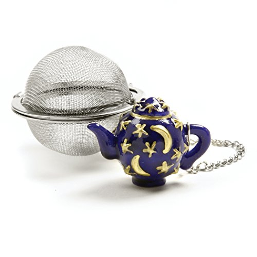 Norpro Stainless Steel 2-Inch Mesh Tea Infuser Ball with Tea