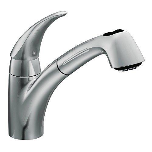 Moen 7560C Extensa One-Handle Low Arc Pullout Kitchen Faucet, Chrome by Moen