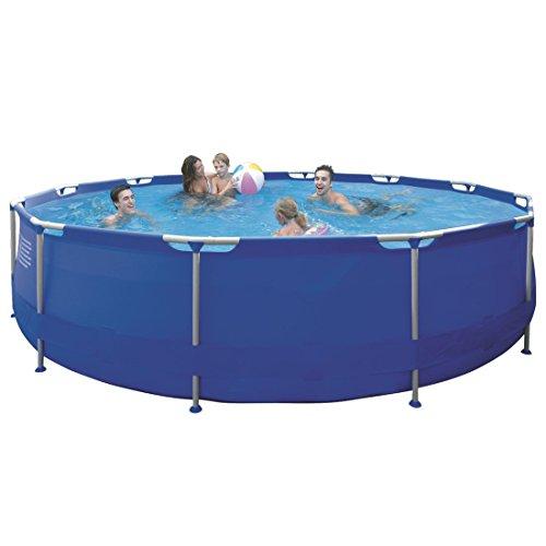 Jilong-JL010135ND-P43-Stahlrahmenbecken-Pool-mit-Kartuschen-Filterpumpe-Leiter-Boden-und-Abdeckplane-Durchmesser-450-x-90-cm-Sirocco-blau