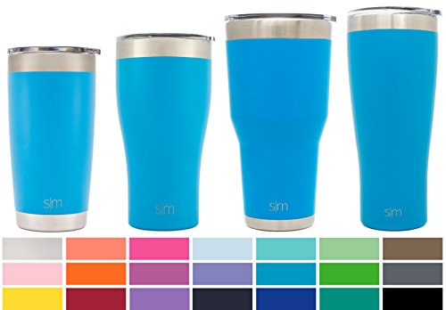 Simple Modern 20oz Cruiser Tumbler - Vacuum Insulated Double Wall Arctic Rambler - 20 oz 18/8 Stainless Steel Blue Travel Mug - Sky