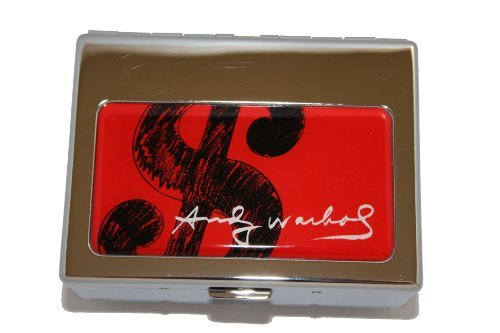 (Andy Warhol by Troika Shiny Chrome Plated Dollar Sign Utensils Box )
