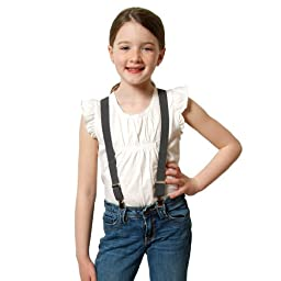 Suspenders for Kids Boys and Baby - Premium 1 Inch Suspender Perfect for Tuxedo -Grey (26\