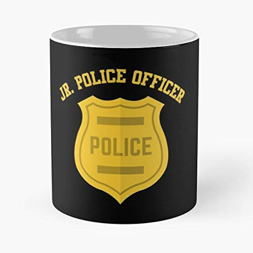 Jr Police Officer - 11 Oz White -coffee Mug- Unique Birthday Gift-the Best Gift For Holidays.]()