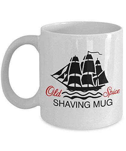 Vintage old spice shaving mug ship grand Turk Salem recovery cup-love of vintage Gillette razors-perfect gift for the guy who loves the great outdoors