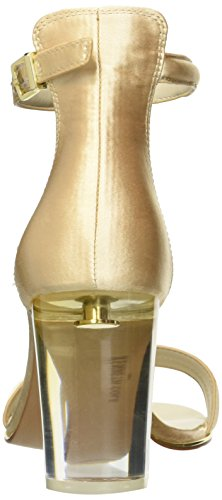 Kenneth Cole New York Mujeres Lex Lucite Heel Dress Sandalia De Tacón Champagne
