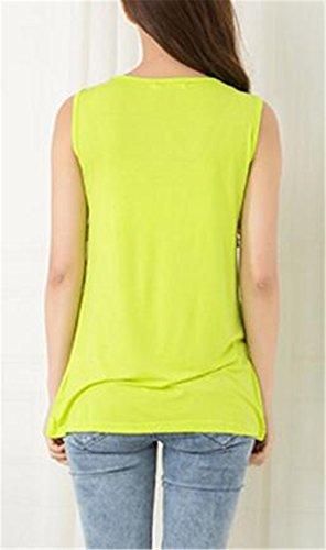 Maglietta Donne Gogofuture Elegante Verde Camicetta Senza Tops Maternity Maniche Allattamento Casual Infermieristica Puro Colore Estivi Nursing Canotta AOwwdqC