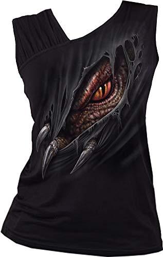 Spiral - Breaking Out - Gathered Shoulder Slant Vest Black - S
