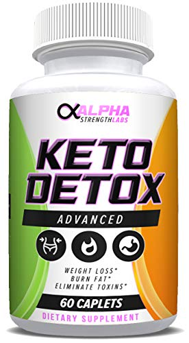 Keto Detox Cleanse Weight Loss - Colon Cleanser - Flush Excess Waste - Formulated for Women & Men - All-Natural Ingredients - 60 Caplets