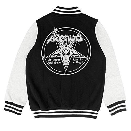 PoPBelle Kids Venom in League with Satan Children Varsity Jacket for Girls Boys Cool Soft Coats