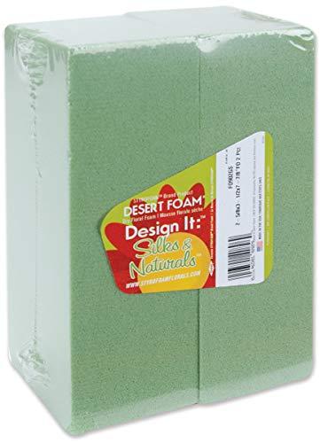 FloraCraft FO25358GS2/90 Desert Foam Bricks Packaged, Green, 2 Per Package