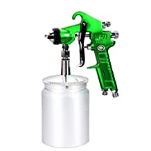 Valianto W71-S Siphon Feed Air Spray Gun Green Nozzle Size 1.0mm