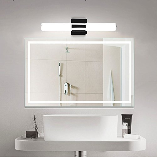 LED Bathroom Lights Over Mirror,JoosenHouse Modern Stainless Steel Sconce Wall Lights Fixtures 1120lm Daylight Bath Makeup Vanity Lighting 16W 31.5inch by Joosenhouse (Image #7)