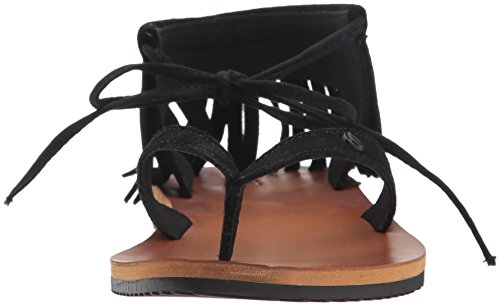 All Fashion Access Volcom Sandal Women's Flat Black Gladiator RnxxW5UwP