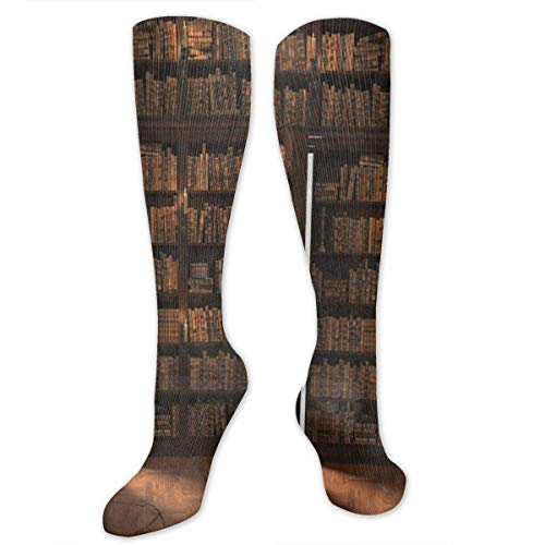 Stretch Socks Secret Door in The Bookcase Bookshelf Personalized Winter Warmth for Women & Men Athletic Sports -