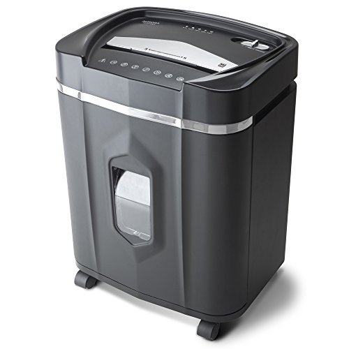 Aurora AU1210MA Professional Grade High Security 12-Sheet Micro-Cut Paper/CD and Credit Card/ 60 Minutes Continuous Run Time Shredder (Best Paper Shredder For Small Business)
