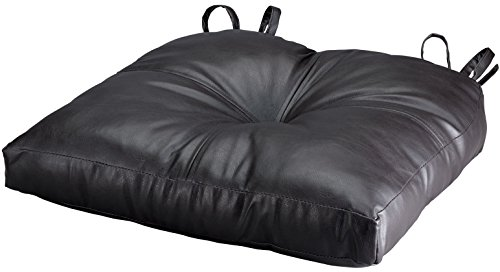 Leather Chair Pads - WalterDrake Faux Leather Chair Pad - Dark Chocolate