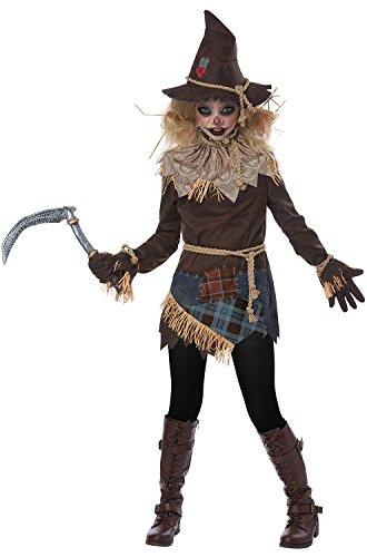 Creepy Scarecrow Child Costume (Halloween Zombie Makeup Tutorial)