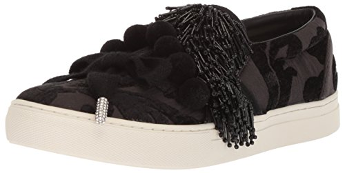 Marc Jacobs Women's Mercer Pompom Slip Sneaker, Black, 41 M EU (11 - Marc Jacobs Womens Slip