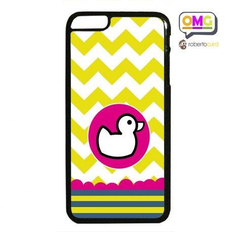 Cover Per Iphone 6 Plus Papera Duck Face Illustrata Sfondo Giallo