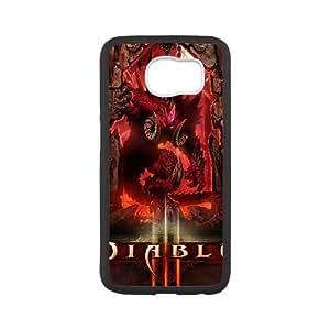 Diablo Iii 15 funda Samsung Galaxy S6 caja funda del teléfono celular del teléfono celular negro cubierta de la caja funda EEECBCAAB12359