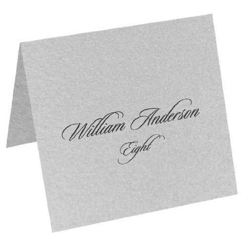 - Metallic Silver, Square Place Cards, Stardream 81lb Text, 100 Pack