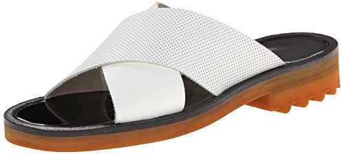 Robert Clergerie Women's Bart02 Flat, White, 39 EU/8.5 B US by Robert Clergerie