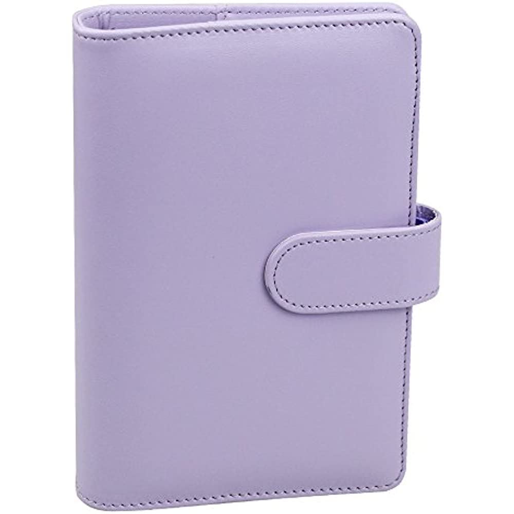 A6 PU Leather Notebook Binder, Refillable Round Ring Cover