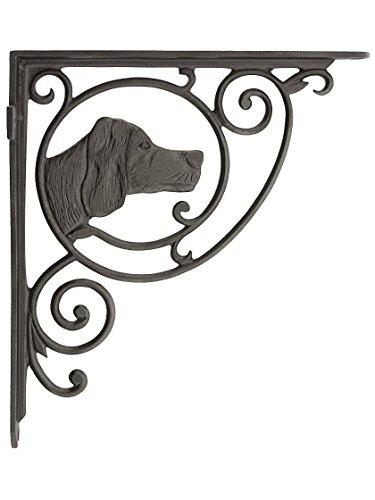House of Antique Hardware R-010SE-U-BKT-09-AI Dogs Head Cast Iron Shelf Bracket in Antique - Finish Antique Ai Iron