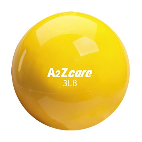 A2ZCare Toning Ball - Soft Weighted Mini Ball / Medicine Ball (Yellow (3lbs))