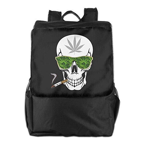 Women Skull Travel Laptop Men Cannabis Backpack Bookbag School Weed Smoking College 4RgxqH