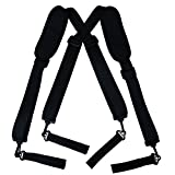 Loosco Duty And Durable Adjustable Tool Belt Suspenders With Pro Comfort Padding Partnered For Duty Belt