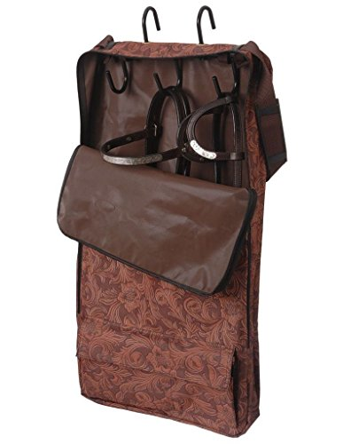 Western Tack (Tough-1 Hanging 3-Hook Tack Carrier Bag Brown Tool)