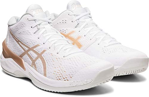 ASICS Women's Sky Elite FF MT Court Shoes, 11M, White/Frosted Almond